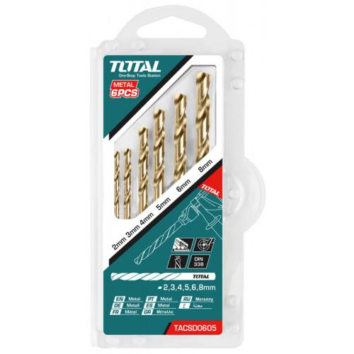 Τρυπάνι HSS DIN338 7mm 10 τεμαχίων TOTAL TAC100703