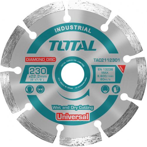 Διαμαντόδισκος UNIVERSAL υγράς και ξηράς Φ230 TOTAL TAC2112301