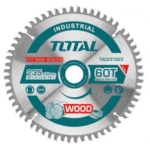 Δίσκος κοπής ξύλου 235mm 25τεμ TOTAL TAC231623