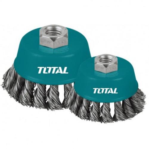 Συρματόβουρτσα γωνιακού τροχού πλεκτή TOTAL TAC32051