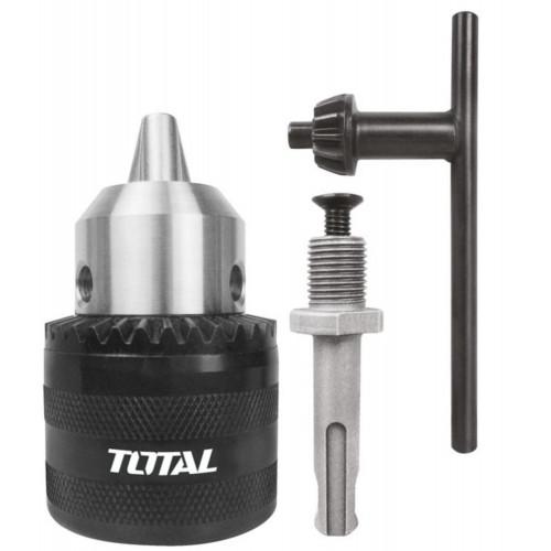 Τσοκ δράπανου με κλειδί & αντάπτορα TOTAL TAC451301.1