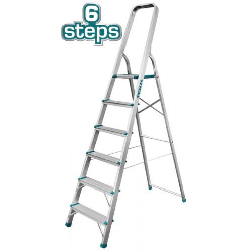 Σκάλα αλουμινίου 6 σκαλοπάτια TOTAL THLAD06061