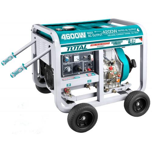 Ηλεκτρογεννήτρια πετρελαίου με ηλεκτροσυγκόλληση 4600W / 50-180A TOTAL TP446001