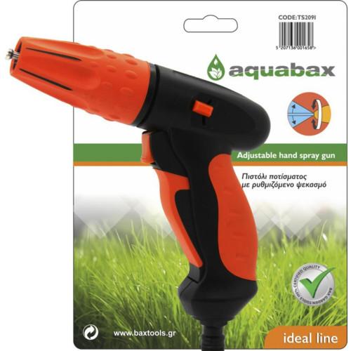 Πιστόλι ποτίσματος με ρυθμιζόμενο ψεκασμό AQUABAX TS2092