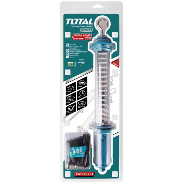 Λάμπα συνεργείου επαναφορτιζόμενη λιθίου TOTAL TWL3600LI