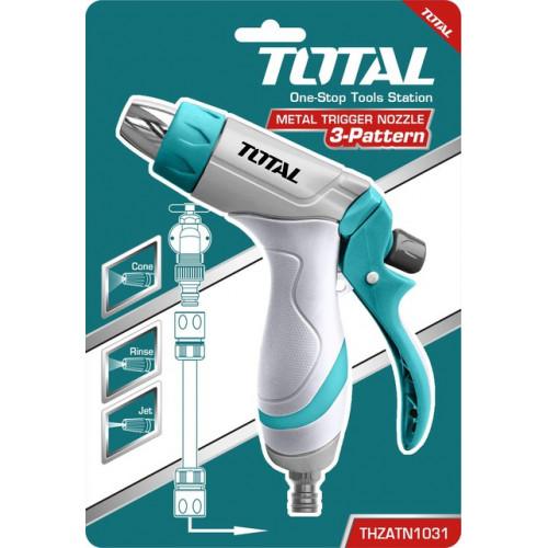 Πιστόλι νερού  ρυθμιζόμενο  με μεταλλικό ακροφύσιο TOTAL THZATN1031