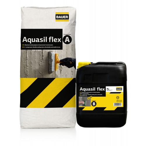 Ελαστικό, επαλειφόμενο στεγανωτικό 2 συστατικών BAUER AQUASIL FLEX ΣΥΣΤ.A+Β' 33 KG