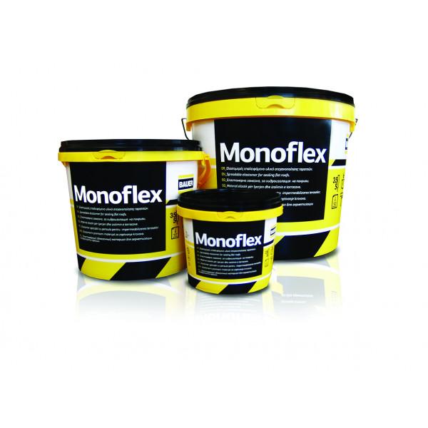 Ελαστομερές ακρυλικό στεγανωτικό ταρατσών BAUER Monoflex 15Kg