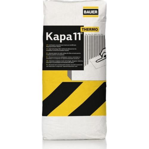Κόλλα ινοπλισμένη θερμομονωτικών πλακών Kapa 11 Λευκό BAUER 25kg