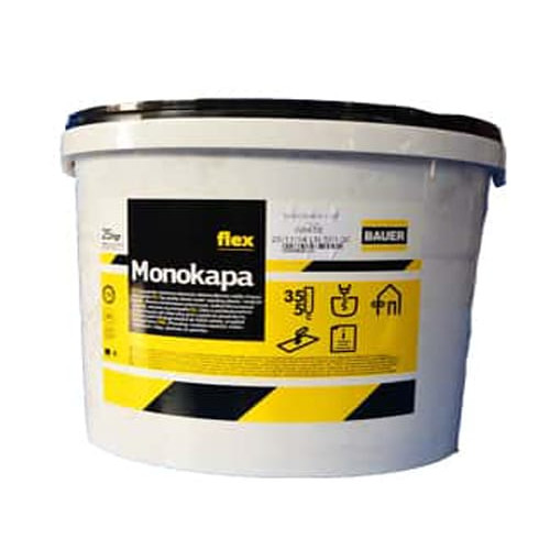 Ελαστικός υδροανθεκτικός σοβάς Monokapa Flex 25kg BAUER