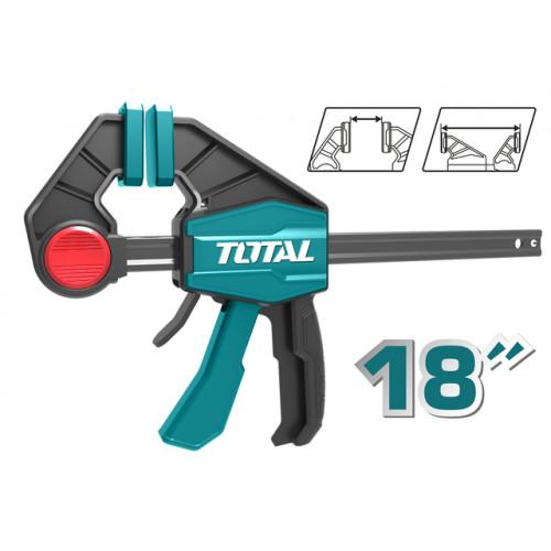 """Αυτόματος επαγγελματικός σφιγκτήρας μαραγκών 18"""" TOTAL THT1340603"""