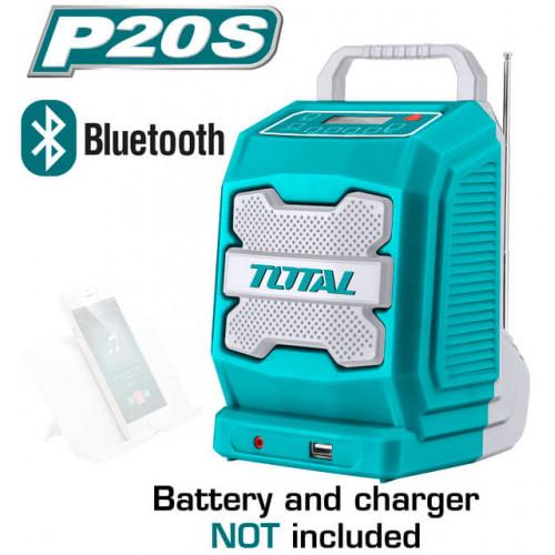 Ραδιόφωνο μπαταρίας λιθίου 20V TOTAL TJRLI2001